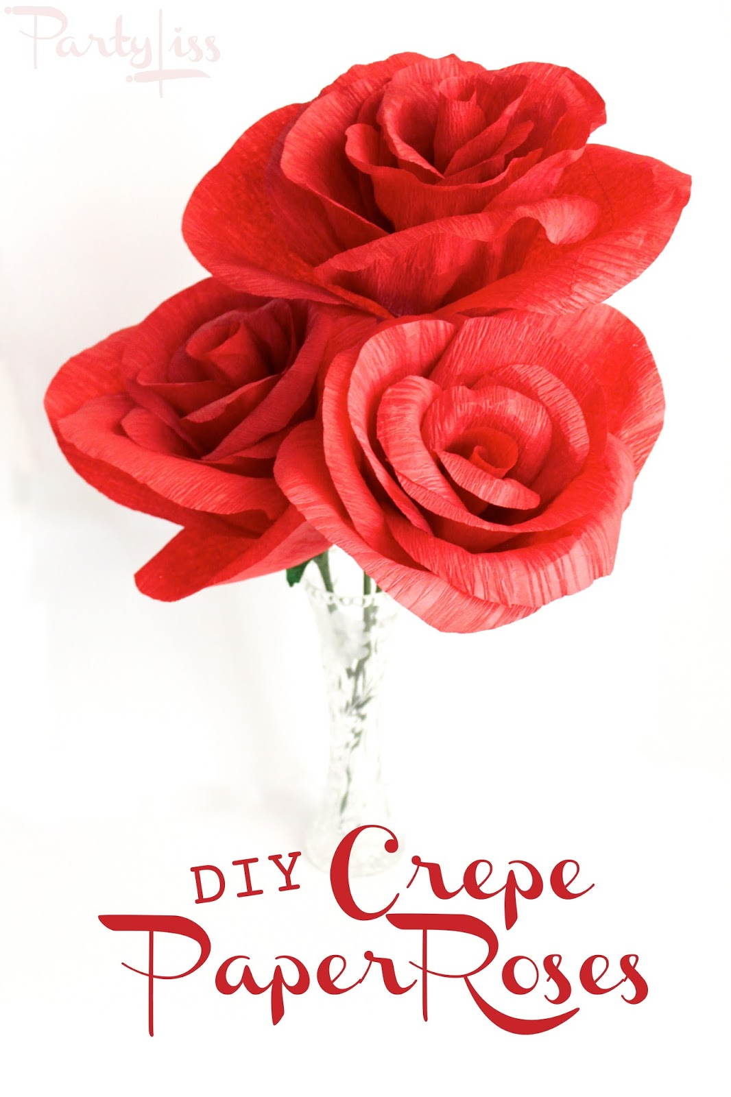 Partyliss Diy Crepe Paper Roses