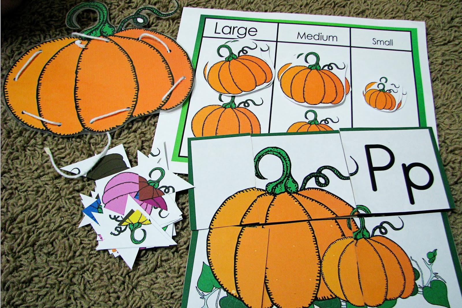 2 Teaching Mommies Has A Fun Pumpkin Printable Pack