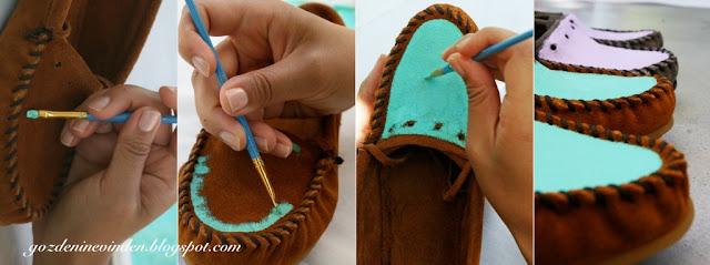 Evde Ayakkabı Boyama
