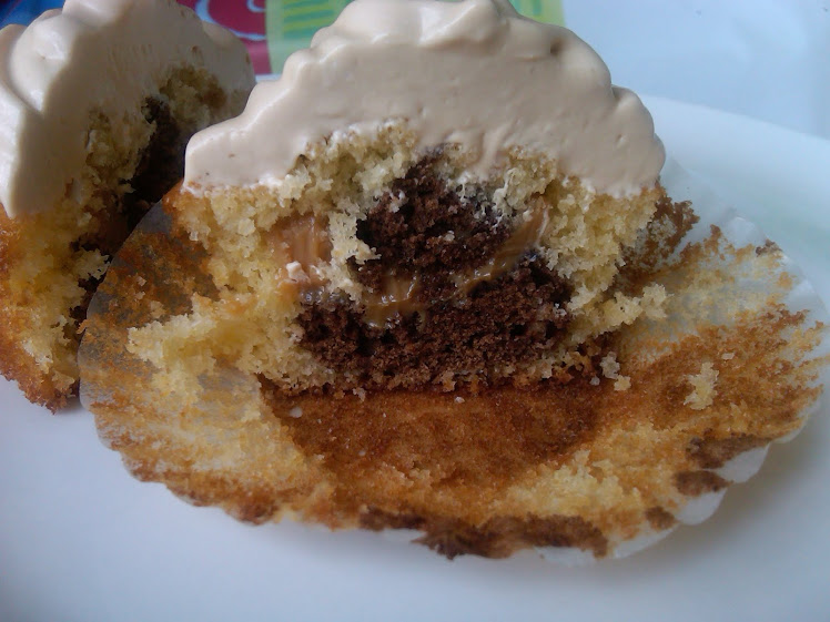 cupcake de dulce de leche