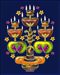DIWALI/FESTIVAL SPECIAL KOLAM - BIG LAMPS WITH STAND FULLY DECORATED