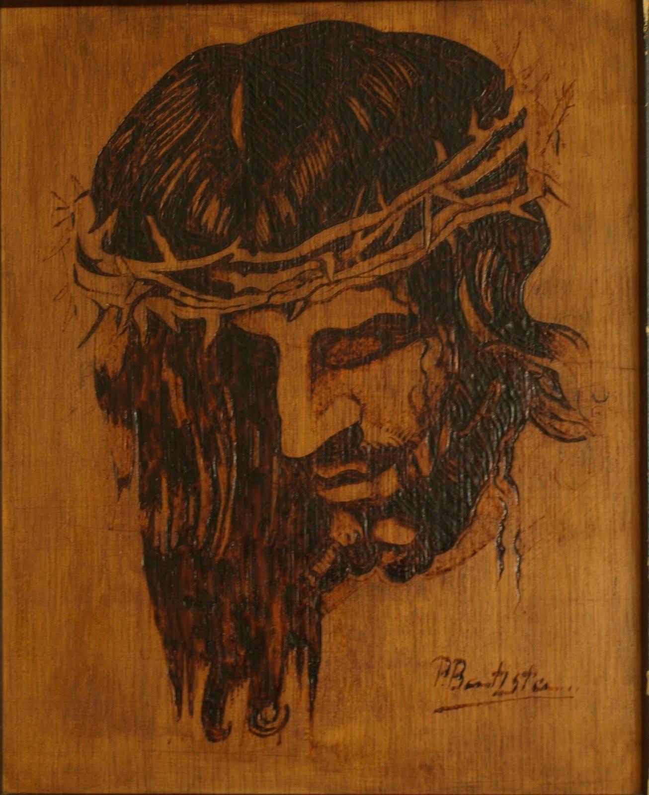 Pirograbado Cristo