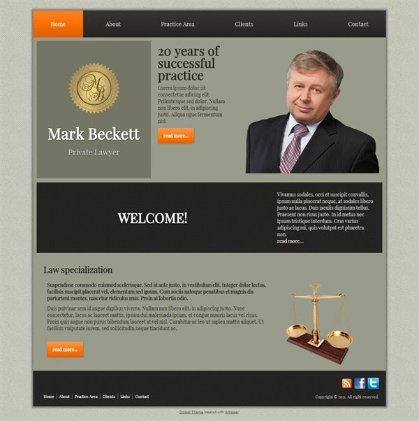 Mark Beckett - Free Drupal Theme