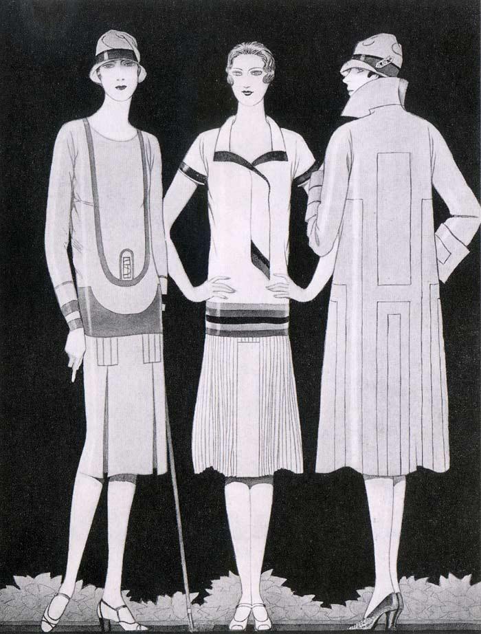 Bibanova english for Art deco era clothing