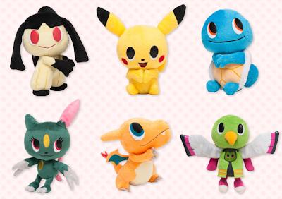 Pokemon Time 6 Plush Pikachu Mawile Squirtle Mawile Weavile Charizard Xatu PokeCenJP