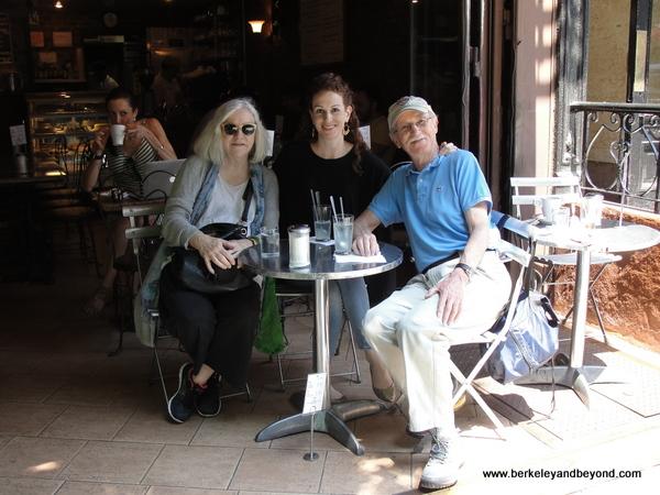 trio celebrating a birthday at Cafe Borgia II in NYC