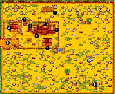 Harvest Moon SNES: Maps and Locations | Casual Gamers Site!