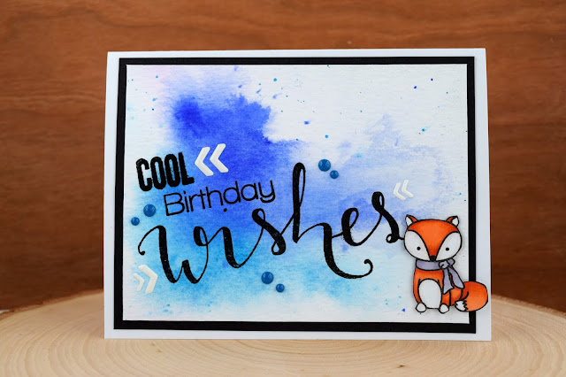 Winter Fox Birthday Card by Jess Gerstner using Create a Smile Stamps