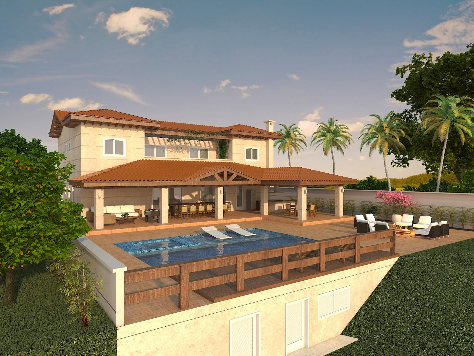 Projeto de arquitetura planta de casa de condom nio - Casas on line ...