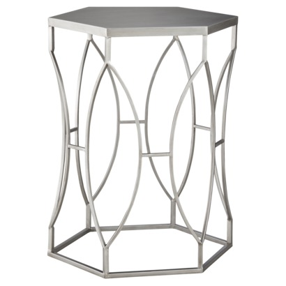 TARGET THRESHOLD METAL ACCENT TABLE - SILVER