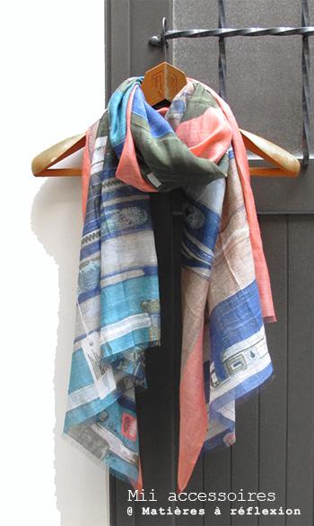 Soldes Foulard soie et coton Mii accessoire imprimé Valises