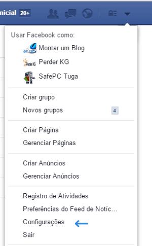 Configurar privacidade no Facebook