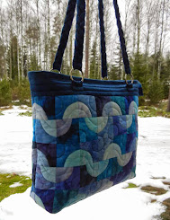 Drunkard's path quilt bag