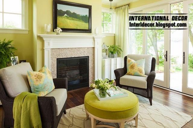 Ottoman and banquette, yellow lemon ottoman for living room