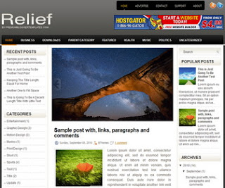 Relief Blogger Template