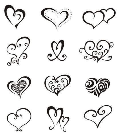K Heart Tattoo ... heart through the heart heart with arrow broken heart and the heart of