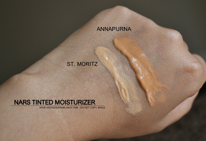 NARS Pure Radiant Tinted Moisturizer SPF 30 New Smaller Size Sephora St. Moritz Annapurna Swatches Makeup Beauty Blog