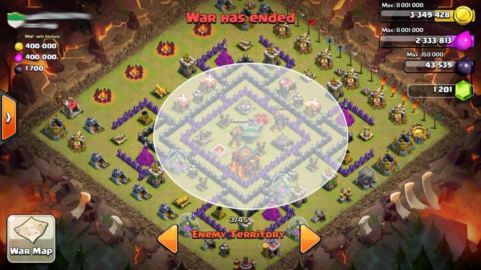 War Clash of Clans Th8 Base