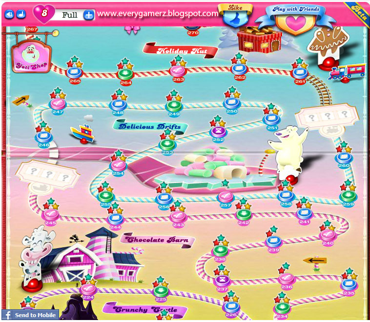 For Android devices Just type Candy Crush Saga on Google Play Store
