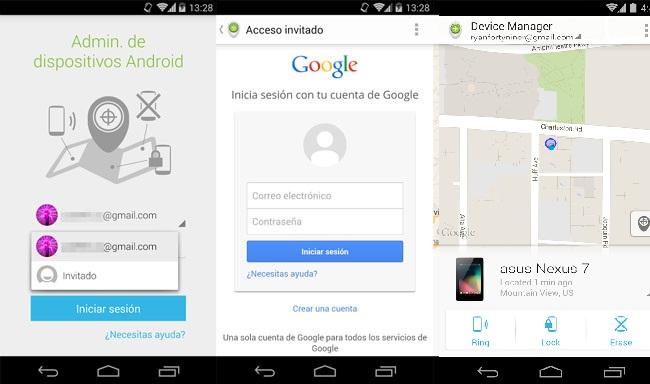 Android Device Manager ya permite localizar nuestro móvil perdido desde el móvil de un amigo