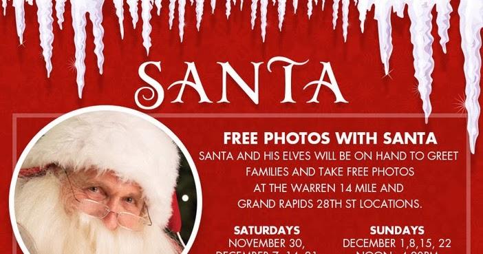 FREE IS MY LIFE: FREE Photos With Santa At Art Van Furniture In Warren  Starting 11/30