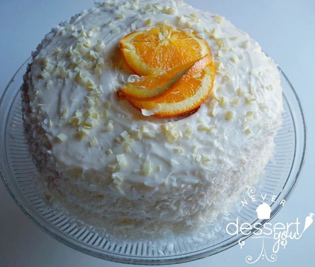 Never Dessert You Orange Coconut Cake