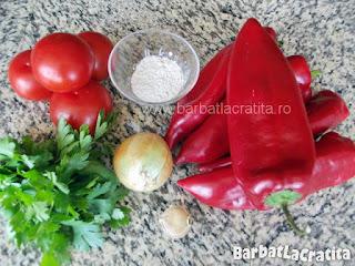 Mancare de ardei copti ingrediente reteta