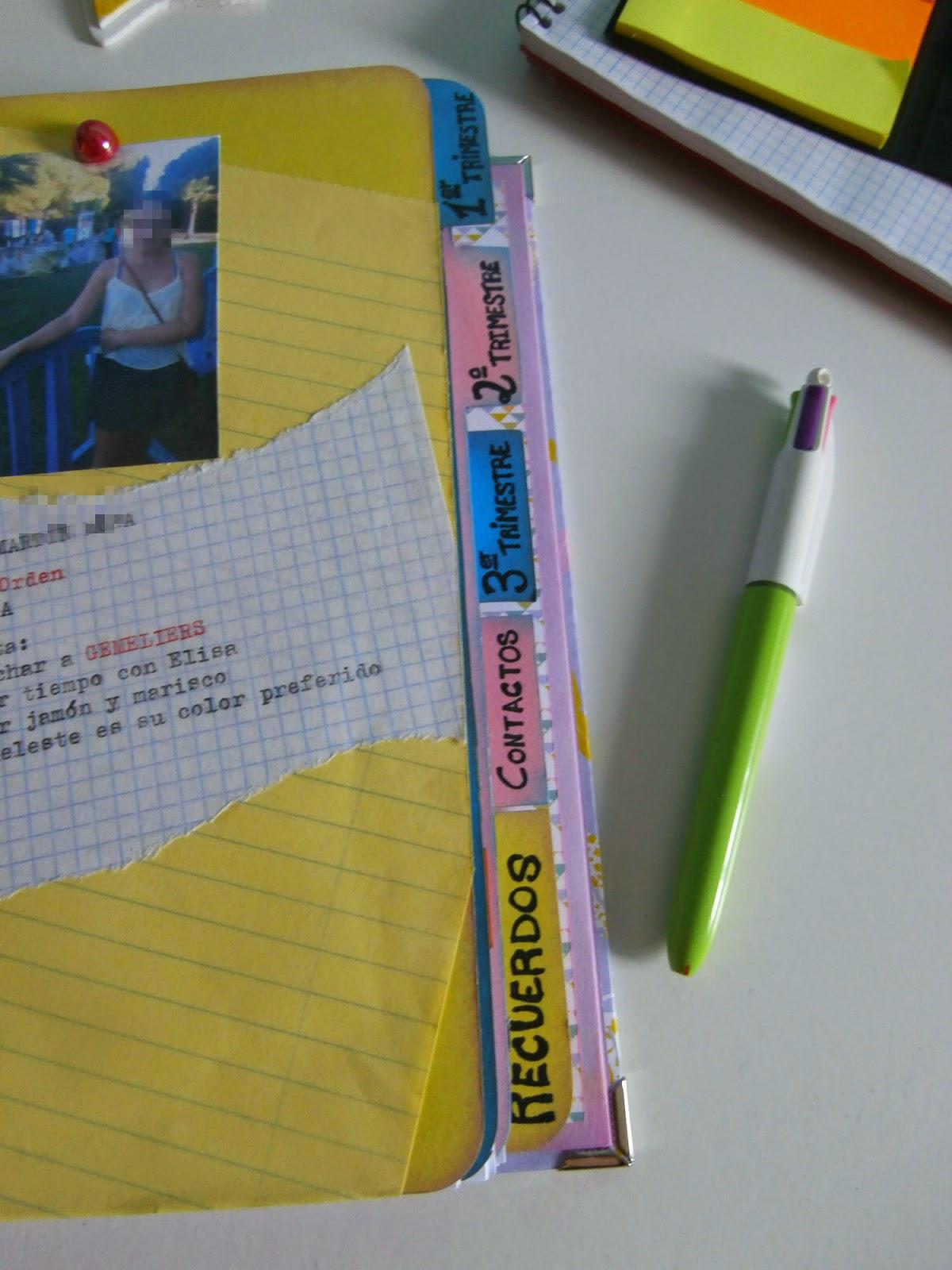 separadores agenda scrapbooking