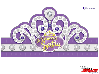 rótulo aniversário princesa sofia para imprimir grátis coroa