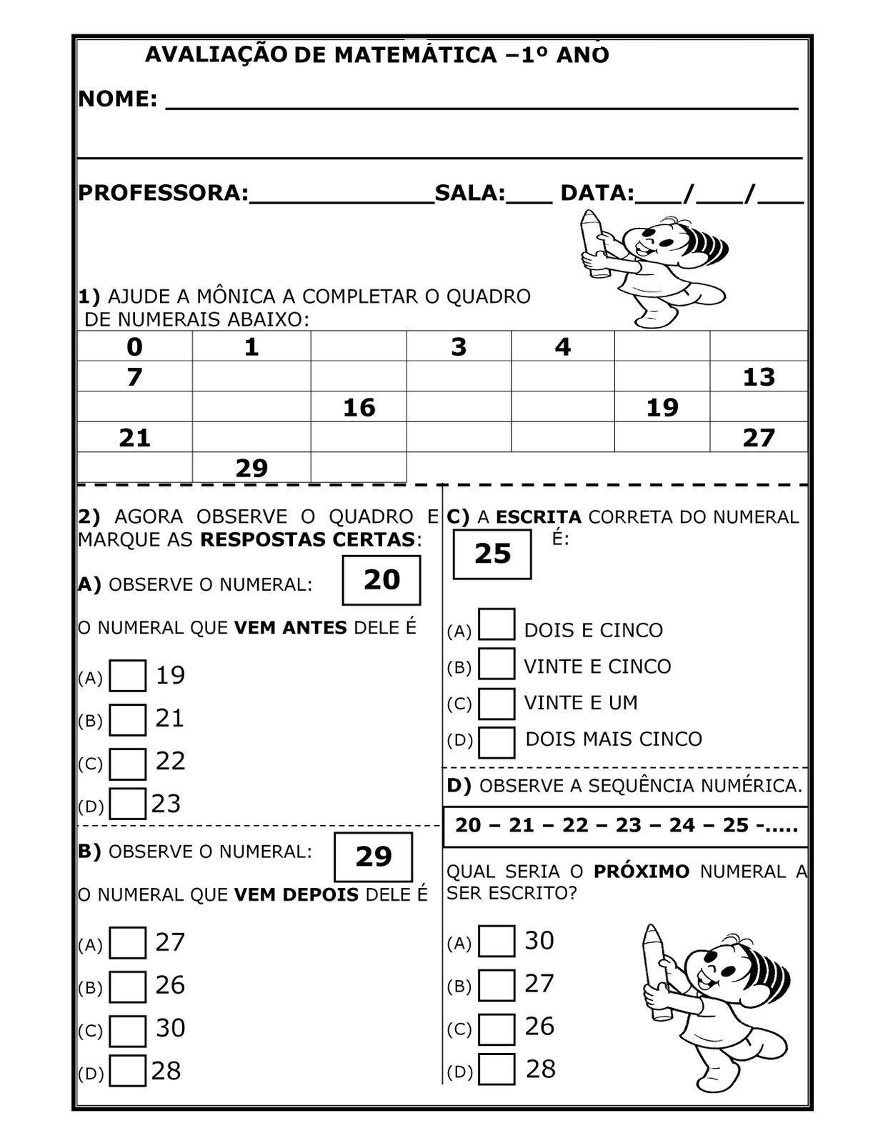 PROVAS 1   ANO TESTES AVALIA    ES   100 ATIVIDADES ENS FUNDAMENTAL