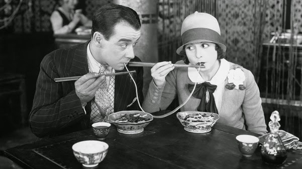 vintage photo of spaghetti eaters from spiritual mechanics of diabetes blog