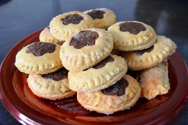 galletas rápidas rellenas de nutella