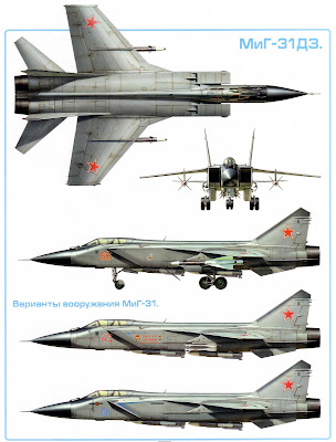 Характеристики перехватчика Миг-31