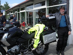 Mike and our 5 country tour bike