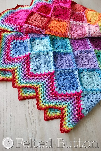 free crochet pattern happy harlequin blanket