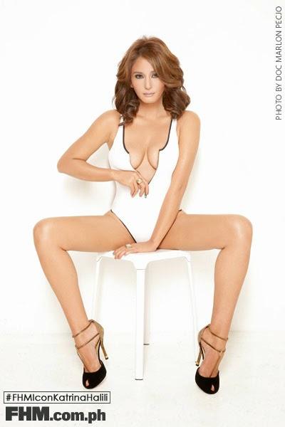 Katrina Halili white swimsuit