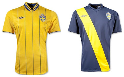 Sweden Home+Away Euro 2012 Kits (Umbro)