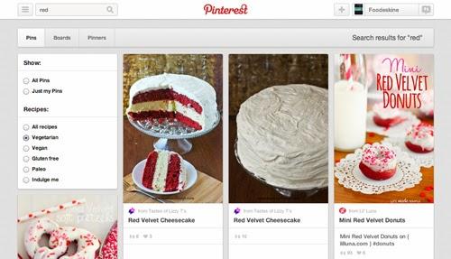 "Pinterest: i nuovi filtri di ricerca ""foodie oriented"""