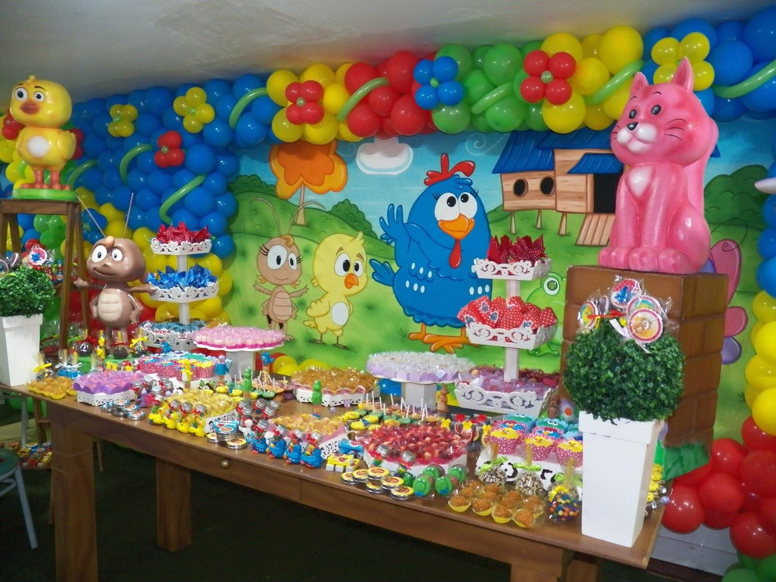 Sonho de Festas: Festa Provençal Galinha Pintadinha rústica #0A447C 1600x1200