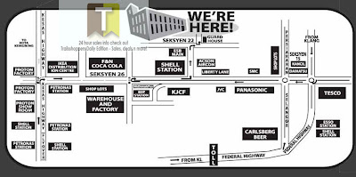 Map Harvey Norman Lion Industrial park Shah Alam