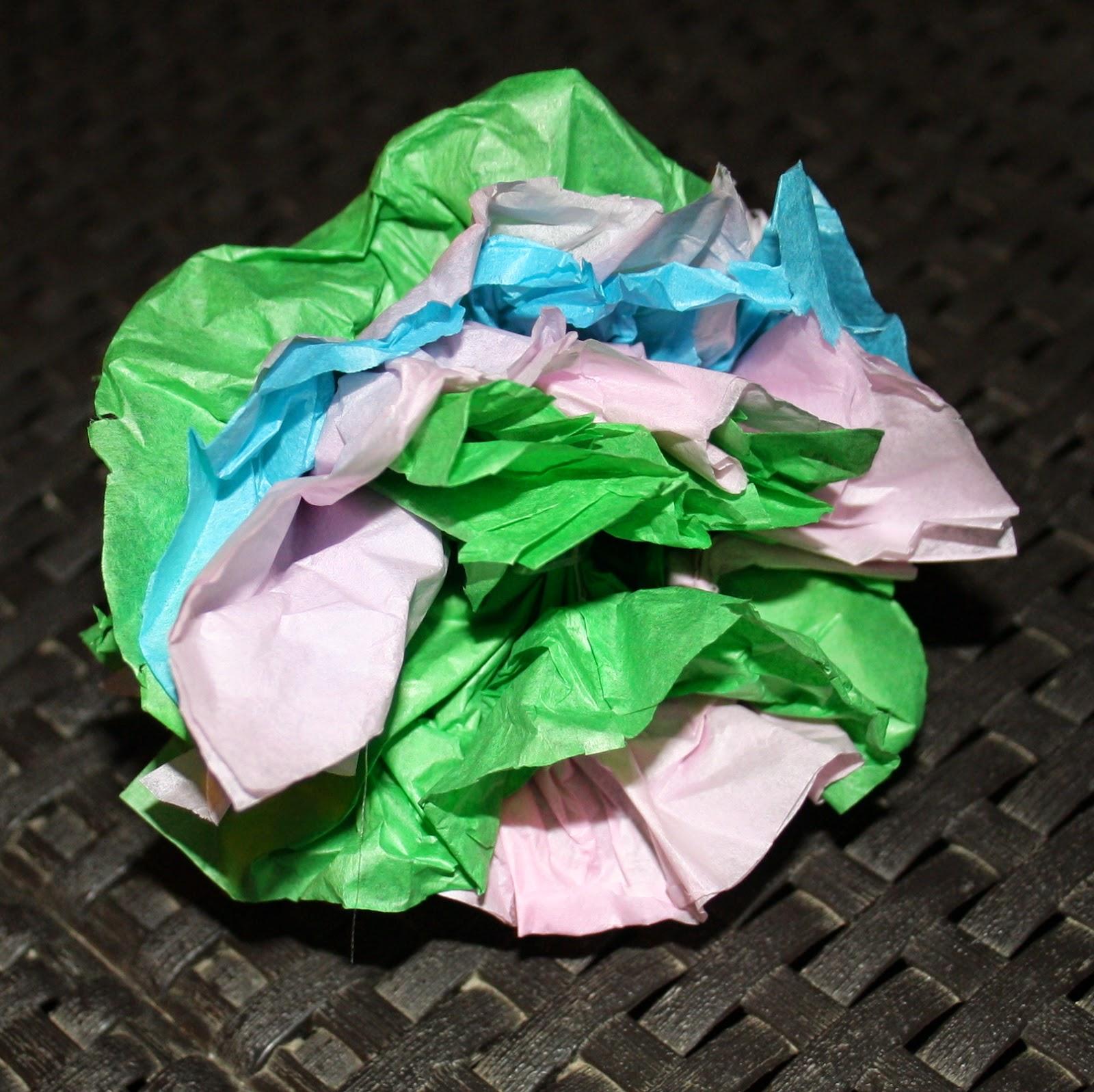 hacer ramo papel seda
