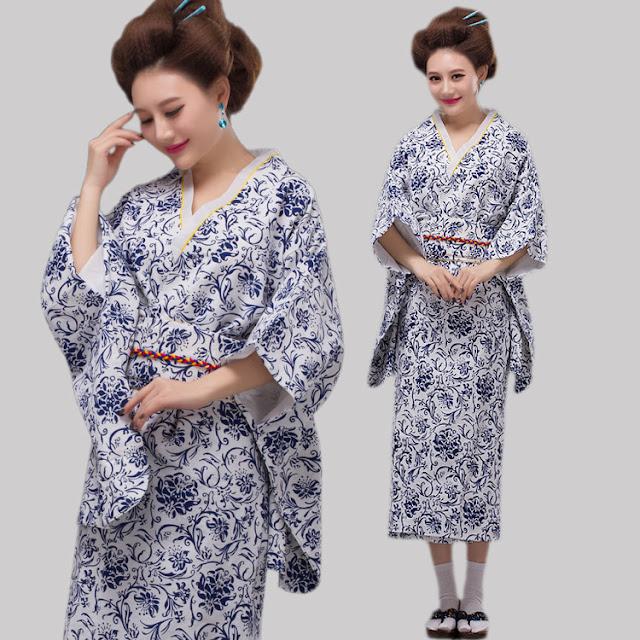 model Kimono Jepang Motif Porselin Terbaru 2015