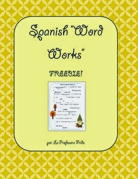 http://www.teacherspayteachers.com/Product/FREE-The-Story-Factory-Spanish-Word-Works-Parts-of-Speech-806863