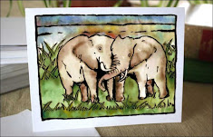 Kissing Elephants Boxed Set Note Card