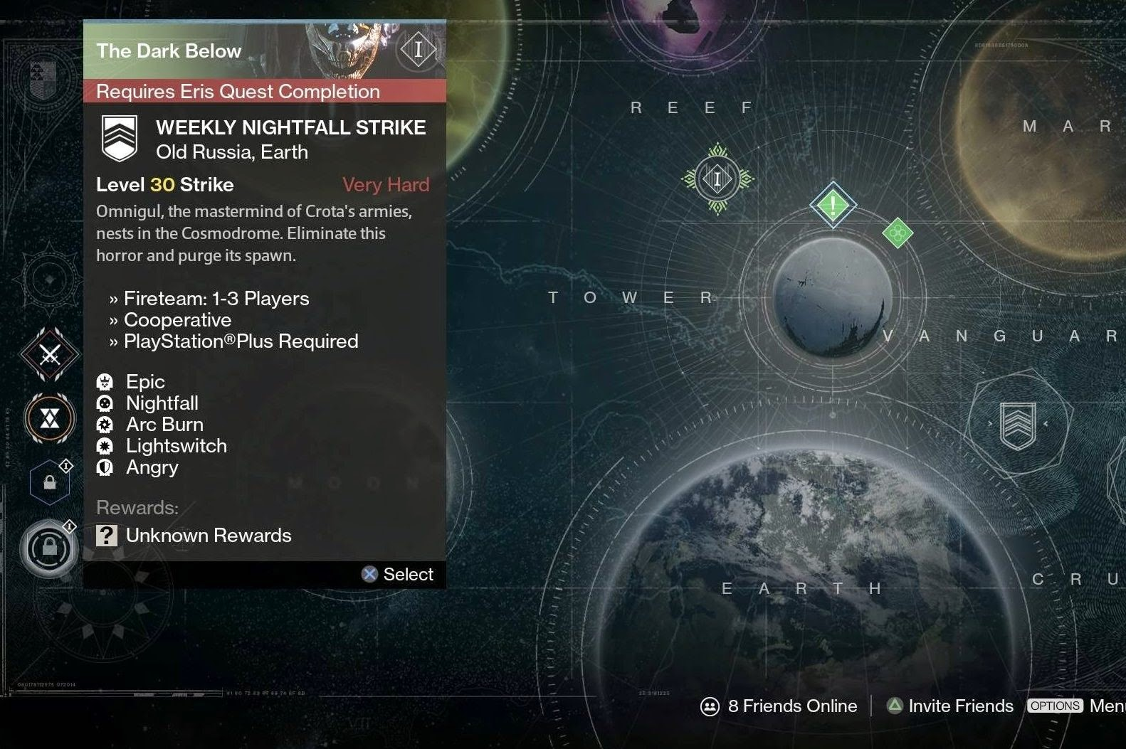 Matchmaking for nightfall strike