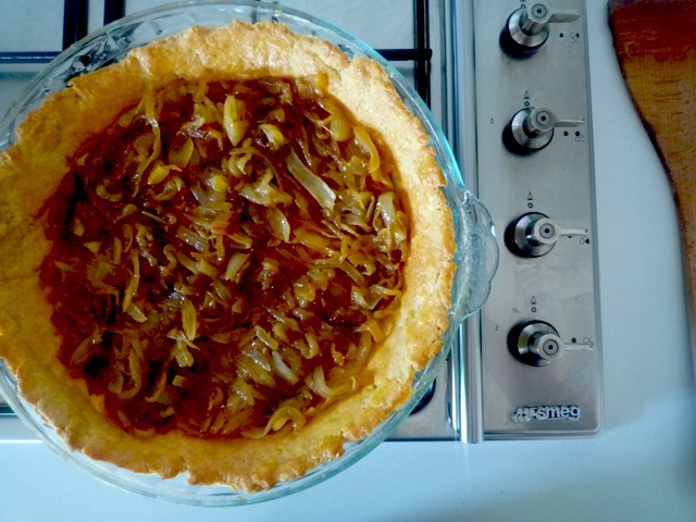 {Rustic Onion Tart}