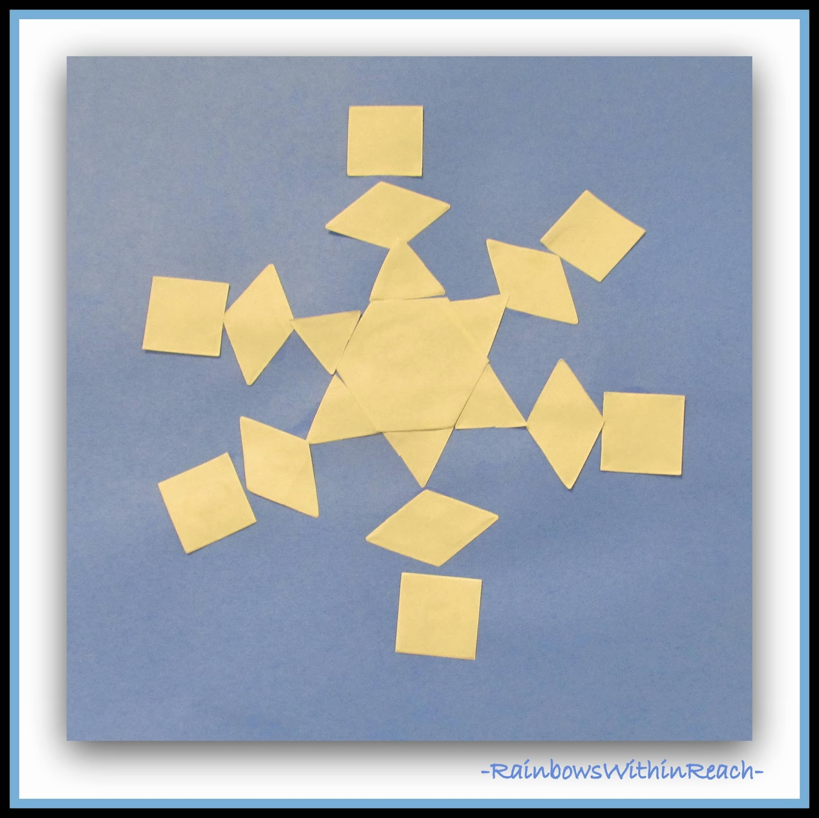 Kindergarten Math Meets Art: Snowflake Symmetry via RainbowsWithinReach