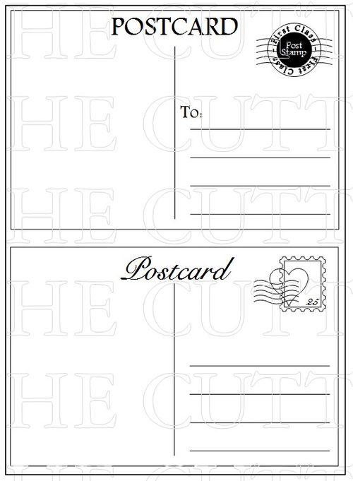Cokie Pop Designs Trendy Travel Postcard – Free Printable Postcard Templates