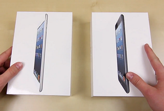 ipad mini unboxing, ipad mini packaging, ipad accessories in box