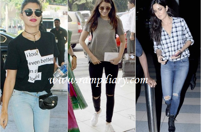 Casual Looks Of Bollywood Actresses - Rampdiary - Indian Fashion ...